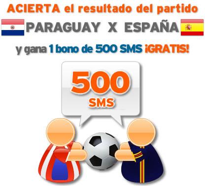 Porra Paraguay vs España de simyo