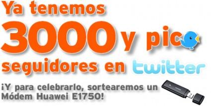 El sorteo de los 3000 y pico seguidores en Twitter