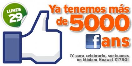 Sorteo los 5000 de Facebook