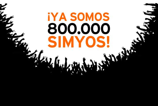 f72511ad5ec Ya somos 800.000 simyos! - Blog de simyo